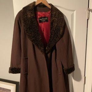ladies Brown Anne Kline ll size 12 dress coat